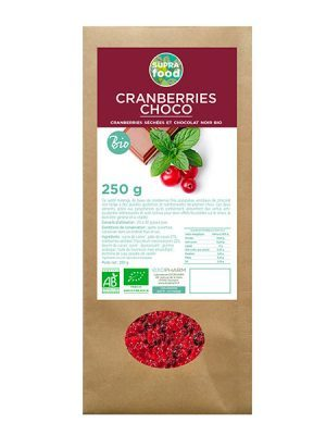 CRANBERRIES ET CHOCOLAT BIOLOGIQUES