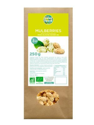 MURES BLANCHES MULBERRIES BIOLOGIQUES